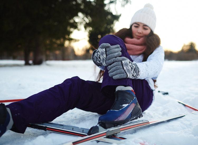 Woman Injured Skiier